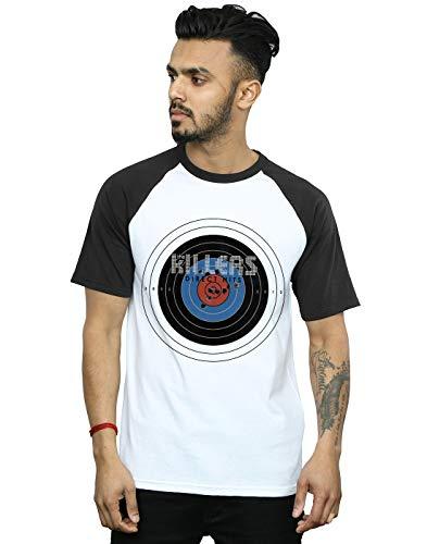 The Killers Herren Direct Hits Baseball-T-Shirt Weiß Schwarz Large (Killers Band-shirt)