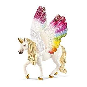Schleich- Figura de Unicornio arcoíris Alado, 18cm