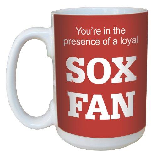 Tree Free Grußkarten, Keramik 15 oz-Sox Baseball-Fan Tasse mit großen Griff, mehrfarbig