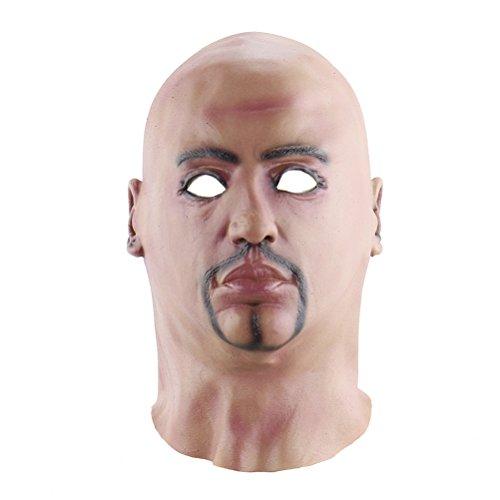 BESTOYARD Halloween Scary Maske Lustige Maske Bareheaded Man Maske Halloween Kostüm Party Requisiten Latex Masken Cosplay Maske Kopf ()
