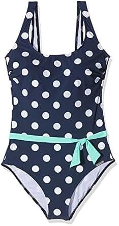 Olympia Damen Einteiler Badeanzug Tortuga, Blau (Nachtblau 30), 46C