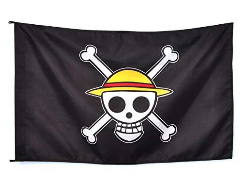LACKINGONE - Chapeau de Paille en Forme de Drapeau Pirate - 60 x 90 cm