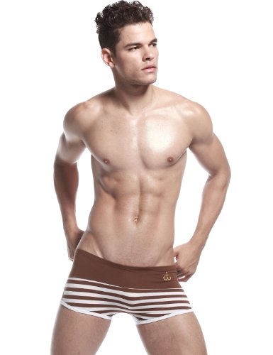 SEOBEAN Herren Low-Rise Boxer Brief Slip Trunks Unterwäsche 2342