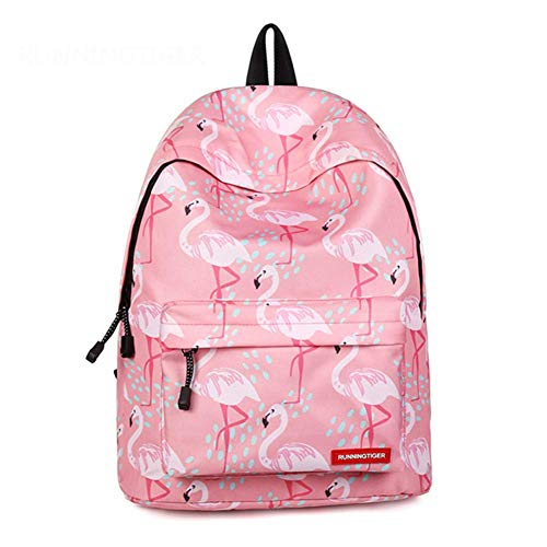 CHUTD Flamingo Schulrucksack, Mode Freizeit Doppel Schulter Schultaschen Leichte Büchertasche Für Mädchen Im Teenageralter Reisetaschen -