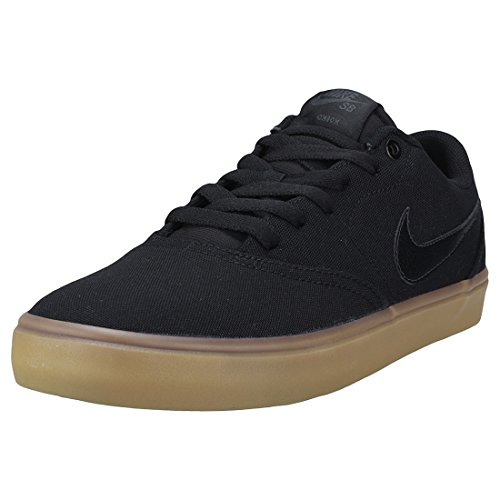 info for 1bfb2 7a477 Nike SB Check Solar Cnvs, Zapatillas para Hombre, Negro Black/Gum Light  Brown