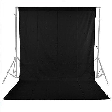 Una foto-engranajes Messines Nuevo Profesional 5.9ft negro X 8.85ft estudio fotográfico foto de fondo 100% Cotton 21 muselina telón 1.8X2.7M Telón de fondo Photo Studio Lighting 1.8X2.7M chroma clave fondo de la pantalla de fondo negro