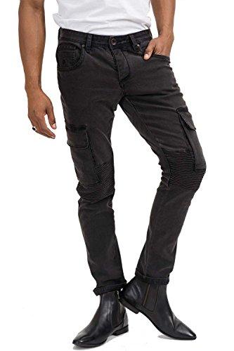 trueprodigy Casual Herren Marken Jeanshose mit Stretch, Hose cool und stylisch Denim vintage (destroyed & Slim Fit), Jeans für Männer in Farbe: Schwarz 6273102-2999-28/2, Farben:Schwarz, Größe:W29 L32