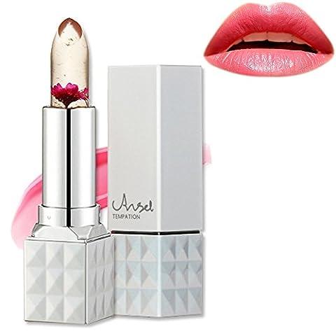 Jelly Lippenstift, Richoose Blume Temperatur Farbwechsel Lippenstift Wasserdichtes langlebiges Moisturizing