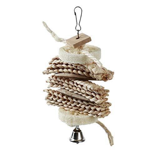 Yinew Papagei Vogel Luffa String Biss Spielzeug Sittich Spielzeug Vogelkäfig dekorative Accessoires Heimtierbedarf (Dekorative Vogelkäfige)