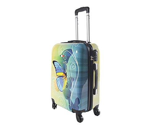 Equipaje de mano 55 cm JUSTGLAM Maleta cabina 4 ruedas trolley cascara dura adecuadas para vuelos de bajo cost art colorful