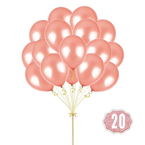 Hoshin Luftballons Luftballons 12 Zoll verdicken Latex Metallic Ballons 100 Stück für Hochzeitsfeier Babydusche Weihnachten Geburtstag Karneval Party Dekoration Lieferungen (Roségold)
