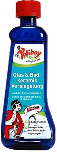 Poliboy - Glas- und Badkeramik Versiegelung - Kein Halt für Schmutz - Oberflächen imprägnieren - Einzeln - 200ml - Made in Germany -