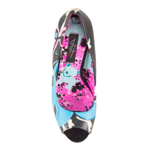 IronFist Peeptoes CANDY FAWN PLATFORMS black Black