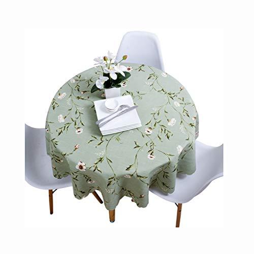 HAIHONG Dayuan Tischtuch Stoff Baumwolle Und Leinen Kleine Frische Europäische Runde Heimat Kleine Florale Amerikanische Land Runden Tisch Esstisch Runden Tuch (größe : 90cm)