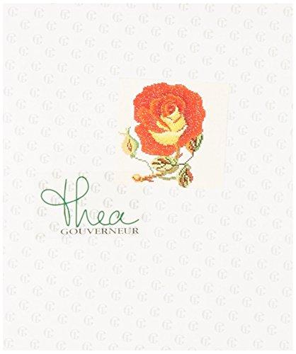 Thea Gouverneur Blumen auf Leinen Kreuzstich-kit-13.5-inch X sto/ßabsorbierender Griff 36/Z/ählen
