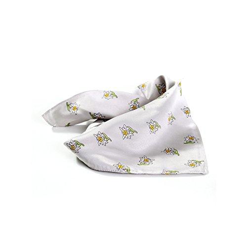 ALMBOCK Edelweiss Halstuch Damen grau | Edelweiß Tücher bayrisch | Nicki Trachten Tuch Herren