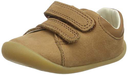 Clarks Jungen Roamer Craft T Sneaker, Braun (Tan Leather Tan Leather), 23 EU