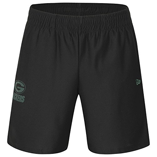 New Era dryera Short Kurze Hose grepac Linie Green Bay Packers, Unisex Erwachsene, schwarz (BLK)