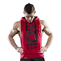 Mens Gym Stringer Tank Top Bodybuilding Athletic Workout Muscle Fitness Vest Red XL