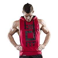 Mens Gym Stringer Tank Top Bodybuilding Athletic Workout Muscle Fitness Vest Red L