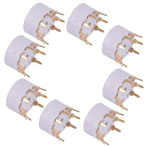 8 St/ück 9Pin PCB Mount Vakuumr/öhrenbuchsen passend f/ür 12AX7 12AT7 12AU7 12AU7 ECC83 ECC82 E88CC Audio