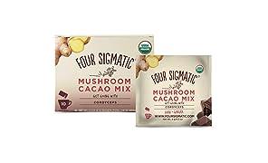 Xoco Rojo, Seta cacao caliente Mezcla de bebida con Cordyceps - Cuatro Sigma Alimentos