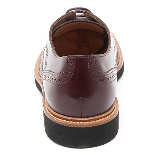 B6158 scarpa inglese uomo TOD'S scarpa bucature bordeaux scuro/grigio shoe man bordeaux scuro/grigio