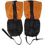 Generic 1 Pair Adult's Fleece Thermal Waterproof Snow Gaiters Cover -Orange Black