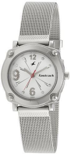 Fastrack Hip Hop Analog Silver Dial Women's Watch - NE6027SM01 image