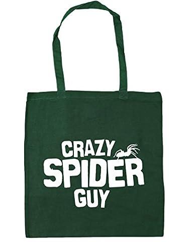 HippoWarehouse Crazy spider guy Tote Shopping Gym Beach Bag 42cm x38cm, 10 litres