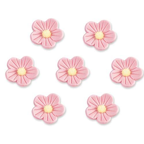 12 rosa Zuckerblumen, 12 Stück