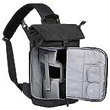 BAGSMART DSLR Kameratasche Sling Kamerarucksack für 1 Kamera, 1 Objektiv, 1 DJI Mavic Pro, Regenschutz (für Canon Nikon Sony Sigma Pentax Olympus Panasonic Fujifilm Kamera) Schwarz