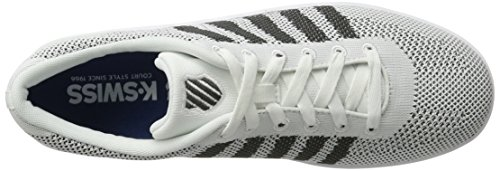 K-Swiss Unisex-Erwachsene Addison Pique Sneakers Grau(WHITE/DARK SHADOW)