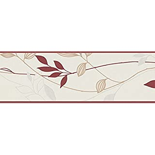 A.S. Creation Avenzio 4 249630 Wall Border Cream / Red / Beige by A.S. Creation