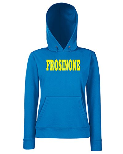 T-Shirtshock - Sweats a capuche Femme WC1002 FROSINONE ITALIA CITTA STEMMA LOGO Bleu Royal