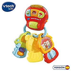 VTech- Llavero Baby Keys Sonajero electrónico Interactivo con Voz y Luces (3480-505122)