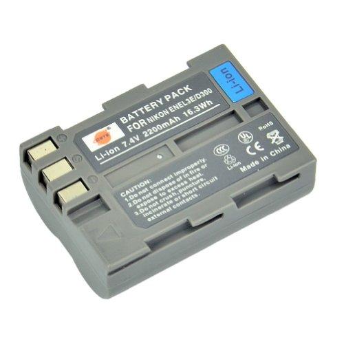 DSTE® EN-EL3e Li-ion Batería Nikon D30