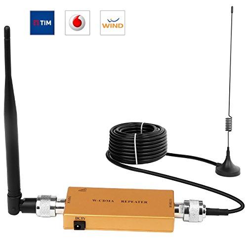 Handy Signalverstärker Verstärker 3G 2100 MHz WCDMA Verstärker Telefon für Ladegeräte mit Antenne für Zuhause/Büro bis 1600 qm ft