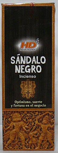 HD – Incienso Sandalo Negro, 6 paquetes de 20 varillas c/u.