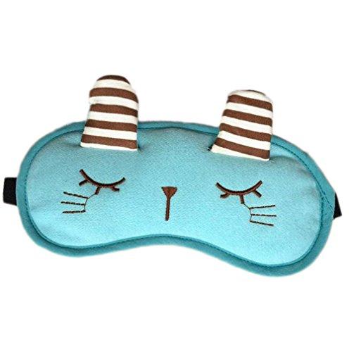 Hosaire Masken-Schlaf Maske der Augen Entspannung Motiv von Chat-Mignon Maske Cache Augen für Schlafen Reise oder bei der Langes Nickerchen,19*9 cm
