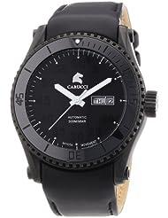 Carucci Watches Herren-Armbanduhr XL Tarent Analog Automatik Leder CA2196BK-BK