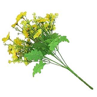 Amesii 1 ramo de 28 cabezas artificiales de margarita para decoración de jardín, boda o casa
