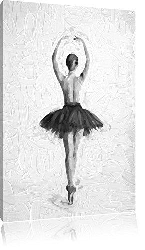 Ballerina-mit-nackten-Oberkrper-Pinsel-Effekt-Format-60x40-auf-Leinwand-XXL-riesige-Bilder-fertig-gerahmt-mit-Keilrahmen-Kunstdruck-auf-Wandbild-mit-Rahmen-gnstiger-als-Gemlde-oder-lbild-kein-Poster-o
