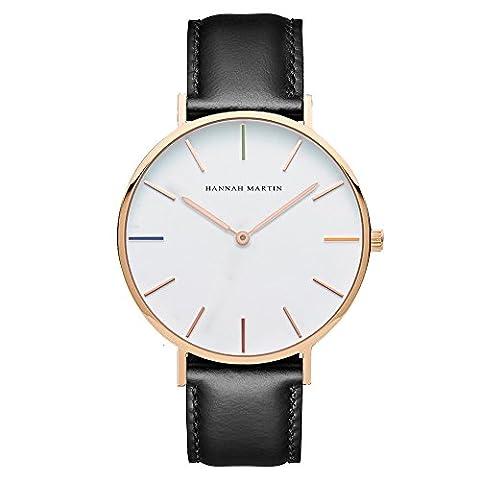 Fashion PU Leather Strap Quartz Men Women Wrist Watch,