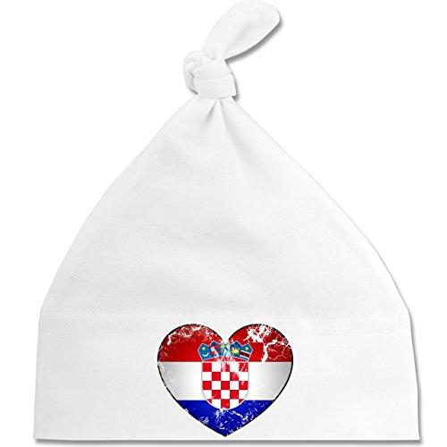 Shirtracer Fußball-Weltmeisterschaft 2018 - Baby - Kroatien Vintage Herz - Unisize -...