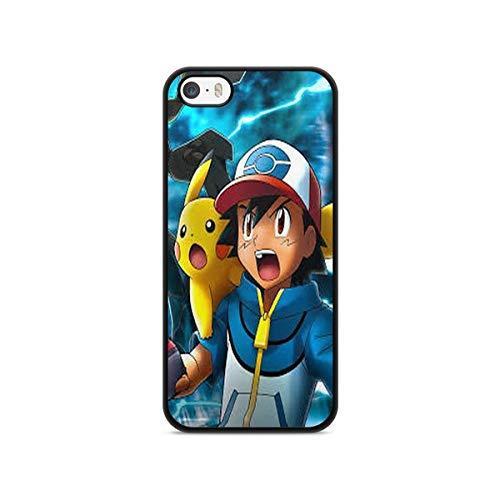 Coque en Folie ] Coque pour Iphone 5c Pokemon go Team Pokedex Pikachu Manga Tortank Game Boy Color Salameche Noctali Valor Mystic Instinct Case + Stylet + Lingette de Nettoyage Ecran 15