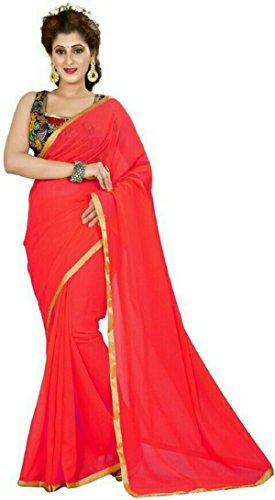 stylish sarees fancy desiner plain nazmin chiffon saree