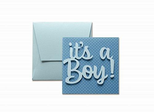 es-un-nio-papel-punteado-tarjeta-de-felicitacin-y-sobres-formato-12-x-12-cm-vaco-por-dentro-ideal-pa