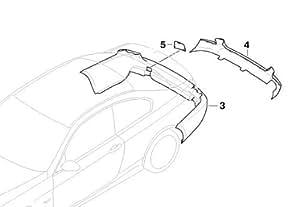 BMW Genuine Rear Bumper Towing Eye Cover (51 12 0 415 360)