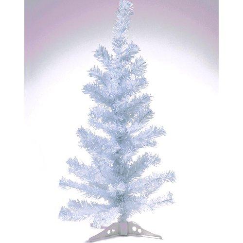 HAB & GUT (XM033) Albero di Natale artificiale / abete colorato bianco - Altezza: 90 cm